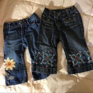 Embroidered Blue Jeans